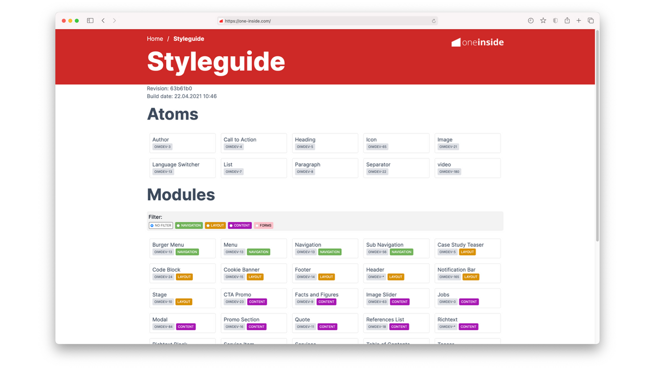 What is a front-end living style guide